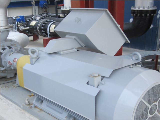 Ballast pump (maximum processing capacity:1,500m3/h)